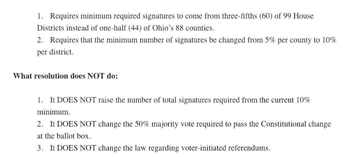 In Sum The Koehler Plan Would Require Signatures From More Parts Of State Requiring Signature Gatherers To Fan Out Into 60 Ohios 99 House