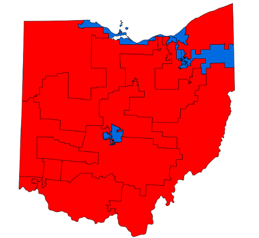 Ohio's gerrymandered congressional map, enacted in 2011, which inordinately favors Republicans.